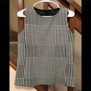 Ann Taylor houndstooth top